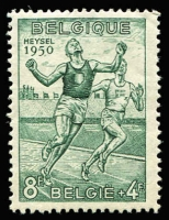 Lot 2 [1 of 5]:Belgium 1950 European Athetics Championships set, SG 1311-16, Cat £100 (5)