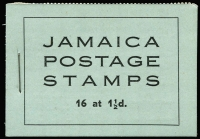 Lot 1010 [1 of 2]:Booklet: Jamaica 1946 2/- New Constitution Booklet SG #B12 containing 1½d SG #134a x16 in blocks of 4, containing 1½d, plus 1952 2/- booklet containing 1d x18 & ½d x12.SG #B12,B13, Cat £250. Ex Mayo. (2)