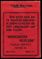 Lot 8:Booklet: Mexico 1929 Obligatory Tax 'ANUNCIADORA 