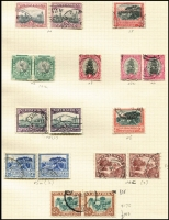 Lot 6 [2 of 4]:British Africa: South Africa 1926-53 Collection on leaves incl 1927-30 Picts to 2/6d in mint pairs, 1930-44 2/6d pairs (2, one used), 1933-48 10/- block of 8 used, range of Bantams, 1947-54 various pairs incl 2/6d & 5/- mint, etc. Southern Rhodesia 1935-41 Postage & Revenue 2d (both perfs), 3d, 1937 Defins mint or used to 5/-, 1940 BSA Jubilee (8), 1953 Coronation. Generally fine. Cat £500++. (c.350)