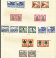 Lot 6 [3 of 4]:British Africa: South Africa 1926-53 Collection on leaves incl 1927-30 Picts to 2/6d in mint pairs, 1930-44 2/6d pairs (2, one used), 1933-48 10/- block of 8 used, range of Bantams, 1947-54 various pairs incl 2/6d & 5/- mint, etc. Southern Rhodesia 1935-41 Postage & Revenue 2d (both perfs), 3d, 1937 Defins mint or used to 5/-, 1940 BSA Jubilee (8), 1953 Coronation. Generally fine. Cat £500++. (c.350)