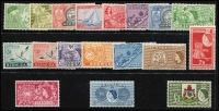 Lot 504 [2 of 2]:British Commonwealth with Bermuda 1953-62 Picts (18), 1962-68 Buildings (ex 10d, 1/3d), British Guiana 1954-63 Picts (15), Cocos 1963 Picts (6) all MUH. The mounted selection includes Christmas Island 1958 Queen (10), 1963 Picts (10), 1968 Fish (10), Nauru 1966 Picts (14), 1968 Opts (14), Gambia 1953-59 Picts (15). Cat £360++. (100+)