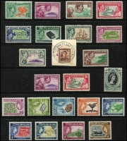 Lot 9 [2 of 3]:British Commonwealth Collection incl North Borneo 1939 Postage Due 10c, used (Cat £475), Papua incl 1932 CofA wmk 9d & 1/3d, 1934 Declaration (4), all MUH, 1938 Br Possession (5), 1939 Airs (6, MLH), Pitcairn Islands 1940-51 Picts (10), NZ KGVI 1½d tied to piece by 'PITCAIRN ISLANDS/N.Z. POSTAL AGENCY' cds. few later commems. Sarawak 1888-97 various to 12c mint, range of later KGVI & QEII.Generally fine. (Few 100)