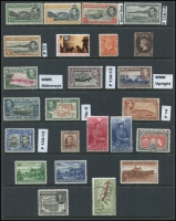 Lot 12:British Commonwealth Oddments incl Ascension P13½ 1d black & green, 1d black & yellow-orange, 1½d black & rose-carmine Davit flaw all MLH, P13 5/- MUH, AAT 1966 $1 MUH, Canada 1932-33 8c orange MLH, Ceylon 1867-70 6d brown, KGVI 30c, 50, 1r MLH, Falklands, Fiji, Gibraltar, Grenada, New Zealand 1953-59 5/- & 10/-, Nyasaland 1953 20/- MUH, Norfolk, PNG 1958-60 1/7d & 5/- MLH, Somaliland 1938 5r MLH. Cat £850+. (24)