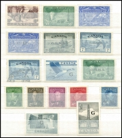 Lot 18 [3 of 4]:Canada & USA Accumulation in sparsely filled, as new, 32 page stockbook incl Canada QV piece c1855 to Calcutta (India) with 1d 'PAID AT QUEBEC' circular cancel in red, few KGV 1930s commems & Defins, Airs, few later booklet panes, also few phosphor tagged issues. USA incl few 1860s 'Black Jacks' (6, incl 2 with grills), 1912-13 Parcel stamps (12). Generally fine. (200+)