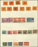 Lot 26 [3 of 4]:French Colonies incl Diégo-Suarez 1894 to 50c, Indo-China on Lindner hingeless pages incl 1892-96 various to 1f, 1900-01 to 25c, 1904-06 to 25c, 1936 Emperor Bao Dai (11), range of later issues to 1946. New Caledonia duplicated array of 1937-40 Picts to 90c (4). Réunion 1892 Defins (11) to 50c. Mostly used. Mixed condition. (Few 100)