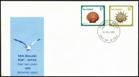 Lot 1058 [3 of 3]:Pacific Islands FDC selection incl Cook Islands (8) 1967 'WALTER LILY' variety (2) on 2 covers, New Zealand 1955-79 (33) incl 1979 $1 & $2, Norfolk Island, Papua New Guinea 1962-86. Many covers unaddressed. Generally fine. (90+)
