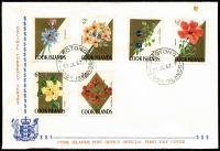 Lot 1058 [1 of 3]:Pacific Islands FDC selection incl Cook Islands (8) 1967 'WALTER LILY' variety (2) on 2 covers, New Zealand 1955-79 (33) incl 1979 $1 & $2, Norfolk Island, Papua New Guinea 1962-86. Many covers unaddressed. Generally fine. (90+)