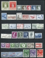 Lot 63 [1 of 3]:Scandinavian Collection incl Denmark 1925 Airs 10ö, 15ö & 25ö (Cat £220), Greenland Parcel Post 1ö & 20ö (Avane cancel), 1981 25k Cod, 1983 50k Salmon, Iceland 1876 10a Official, 1922 Picts (7), Norway 1850s-1983 collection in Schaubek hingeless album incl 1855 4sk forgery, 1856-60 King Oscar (3), selection of Posthorns, many commems, 1964 Lottery ticket, 1965 Red Cross (2), 1972 Polar Ships (3), few Officials, Postage Dues, etc. Mixed condition. (100s)