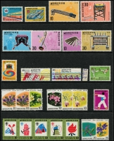 Lot 67 [3 of 5]:South Korea 1949-81 Collection on 8 Hagners incl few earlies, range of 1960s commems, 1963 Freedom From Hunger M/S (7), Presidential Inauguration, 1975 Nordjamb Scout strip, etc. (c.180 &8 M/Ss)