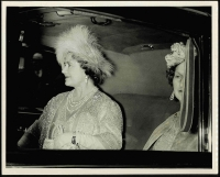 Lot 151 [3 of 4]:1963 Royal Wedding of Princess Alexandra: group of 7 of black & white Press Photos from the Daily Sketch, (mostly 25x20cm or 29x24.5cm) all with authentification handstamps or labels on reverse. Pictures show Queen Mother in car, Princess Anne as bridesmaid; the Queen watching the Bridal couple leave; etc. Also separate Evening News photo of the Queen Mother & the Queen at the wedding reception. Interesting lot. (8 Items)