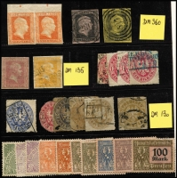 Lot 420 [1 of 2]:Collection: from Baden, Bavaria, Bremen (forgery), Brunswick, Hamburg, Hanover, Lübeck, Oldenburg, Prussia 1860 ½gr vermilion, marginal pair (one unit MUH), Saxony, Württemberg & North German Confederation. Very high catalogue value. Condition is extremely mixed. (118)