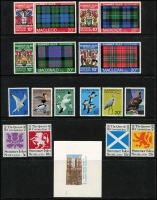 Lot 1397 [2 of 5]:Locals : Collection on 25 Hagners incl Brechou, Calf of Man, Davaar Island, Drakes Island, Gugh Island, Isle of Pabay, Isle of Skye, Jethou, Sanda, Staffa, Stroma, Summer Isles. Many Europas, Scouts. Few 'SPECIMEN' (Gugh Island), gold foils, imperfs, several FDCs. Nice lot. (Few 100)