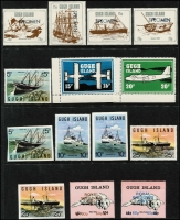 Lot 1397 [1 of 5]:Locals : Collection on 25 Hagners incl Brechou, Calf of Man, Davaar Island, Drakes Island, Gugh Island, Isle of Pabay, Isle of Skye, Jethou, Sanda, Staffa, Stroma, Summer Isles. Many Europas, Scouts. Few 'SPECIMEN' (Gugh Island), gold foils, imperfs, several FDCs. Nice lot. (Few 100)