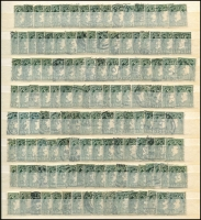 Lot 1699 [2 of 10]:1922 (No Opts)-1968 Definitives accumulation incl values to 2/6d (19), 5/- (9), 10/- (2), also incl 1d coil Imperf xP15 mint, few 1947-65 Airs used, Postage Dues, etc. Mixed condition. (100s)