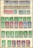 Lot 1699 [3 of 10]:1922 (No Opts)-1968 Definitives accumulation incl values to 2/6d (19), 5/- (9), 10/- (2), also incl 1d coil Imperf xP15 mint, few 1947-65 Airs used, Postage Dues, etc. Mixed condition. (100s)