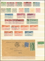 Lot 1699 [4 of 10]:1922 (No Opts)-1968 Definitives accumulation incl values to 2/6d (19), 5/- (9), 10/- (2), also incl 1d coil Imperf xP15 mint, few 1947-65 Airs used, Postage Dues, etc. Mixed condition. (100s)
