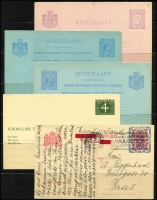 Lot 1756 [4 of 10]:1880s-1969 Postal stationery range incl postal cards, few Lettercards, plus selection of 1948-51 airmail covers to Australia, also 1941 double censored airmail cover to USA, and 2006 Personal Stamps (4 strips of 5 football players in special folder). (17 postal cards, 2 Lettercards, 11 covers)
