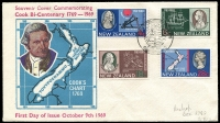 Lot 492 [2 of 4]:1941-85 FDC Collection incl 1941 'TENPENCE' on 1½d registered cover, 1946 Peace (Jones C46.1PA), range of Decimal covers incl 1981 $5 Beehive, 1985 $1 & $2, etc. Many later covers unaddressed. Also small group of 'Official' stamps incl KGVI 1947-51 2/- with Wmk sideways, and few used Health issues. (75+ & c.100 stamps)