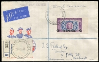 Lot 492 [1 of 4]:1941-85 FDC Collection incl 1941 'TENPENCE' on 1½d registered cover, 1946 Peace (Jones C46.1PA), range of Decimal covers incl 1981 $5 Beehive, 1985 $1 & $2, etc. Many later covers unaddressed. Also small group of 'Official' stamps incl KGVI 1947-51 2/- with Wmk sideways, and few used Health issues. (75+ & c.100 stamps)