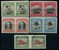 Lot 1187 [2 of 2]:1920 Pictorials imperf Plate Proof pairs. Generally fine. (6 pairs)