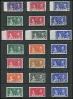 Lot 116 [3 of 3]:1937 Coronation: complete (202) plus blocks of 4 for Morocco Agencies (French, Spanish & Tangier), Seychelles & Turks & Caicos. Cat £200+. (236)