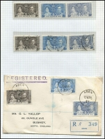 Lot 119 [2 of 3]:1937 Coronation Issues: complete MUH & used collection, plus 32 different FDCs, some illustrated, some registered. Cat £700+. Generally fine. (100s & 30+ covers)