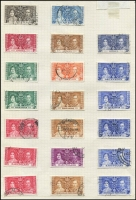 Lot 118 [1 of 2]:1937 Coronation Issues: incomplete collection of used issues incl Hong Kong. (178)