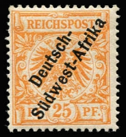 Lot 1845 [2 of 2]:1897-1900 Opts on German Stamps 25pf & 50pf prepared for use, but not sent to the Colony, Cat £650. (2)