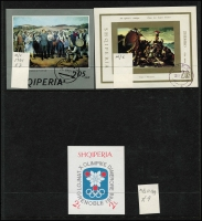 Lot 1462 [3 of 11]:1913-1980 Duplicated Accumulation in 64 page 'KA-BE' stockbook with good range of early opts, several better M/Ss, many sets incl 1914 Arrival of Prince William of Wied, several unissued stamps, 1928 Airs to 3f (ex 2f), 1937 Independence M/S, 1938 Wedding M/S (2), much thematic interest, etc. Well worth closer inspection. STC £4,400. Vendor's inventory included. Generally fine. (1,000s & 27 M/Ss)