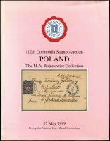 Lot 1095:Poland: The MA Bojanowicz Collection published by Corinphila, Zurich in 1999 (May 17), 111+pp Hardbound, dustjacket with light fading.