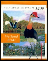 Lot 452 [2 of 2]:1997 $4.50 Wetlands Booklet 1st reprint Imperforate. Brusden White only lists this variety for the original printing, Cat $750, for which it states 'Approximately 20 examples....have been found'. Exremely rare.