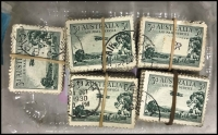 Lot 360:1929 3d Airmail Type A (350), Type B (85). Good to fine used. Figures given by Vendor. (435)