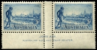 Lot 576 [3 of 3]:1934 Victorian Centenary Perf 11½ Ash imprint pairs, BW #154-56. Very lightly mounted. (3 pairs)