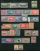Lot 928:British Commonwealth incl Ascension 1938-53 3d black & grey, Bahamas 1948 Eleuthera 2/-, 3/-, 5/-, 10/- & £1, (all no gum), Cyprus 1938-51 ¾pi, 1½pi carmine, 2½pi blue, Gibraltar 1938-51 P14 1d, 2d grey, MLH, P13, GB 1951 Festival 5/-, KUT 1954 P14 20c, Leeward Islands 1938-51 2/-, Pitcairn Islands 1951 Defins 4d & 8d, St Vincent 1938-47 5/-, Sth Rhodesia 1937 1/6d & 2/-. Generally fine with few MNG. Cat £570+. (30)