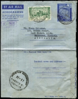 Lot 3:Censored Covers incl Cuba (5) to RAAF Cpl in 
