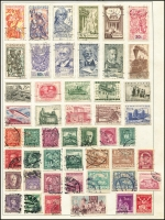 Lot 942 [4 of 9]:Eastern Europe Accumulation on old 'KA-BE' sparsely filled pages incl Bulgaria, Croatia, Czechoslovakia, Estonia, Latvia, Poland, Romania, Russia, Yugoslavia, etc. Generally fine. (100s)