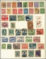 Lot 942 [1 of 9]:Eastern Europe Accumulation on old 'KA-BE' sparsely filled pages incl Bulgaria, Croatia, Czechoslovakia, Estonia, Latvia, Poland, Romania, Russia, Yugoslavia, etc. Generally fine. (100s)