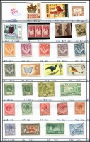 Lot 943 [6 of 8]:Exchange Sheets (retired) with British Commonwealth issues from QV to QEII incl Australia, Cyprus, GB, Gibraltar, Hong Kong, India, Malaya, Malta, NZ, etc. Many better issues throughout. Priced to sell in 100s of dollars. Generally fine. (100s)