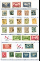 Lot 944 [6 of 7]:Exchange Sheets (retired) incl Australia incl few Roos, KGV 4d orange & 5d (both MUH), Austria, Belgium, Burma, France, Greece Hungary, Iraq, Japan, Russia, USA, etc. Generally fine. (100s)
