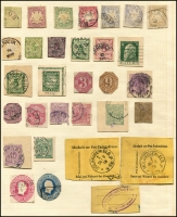 Lot 907 [3 of 5]:Foreign Accumulation 19th to 20th Century incl Arab States, Austria many 1910s-20s, Belgium, France, Germany with many used stationery cutouts, slogans (incl East German selection), Greece, Guadeloupe, Turkey, UN, etc. Few Fiscals. Generally fine. (100s)