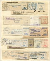 Lot 907 [4 of 5]:Foreign Accumulation 19th to 20th Century incl Arab States, Austria many 1910s-20s, Belgium, France, Germany with many used stationery cutouts, slogans (incl East German selection), Greece, Guadeloupe, Turkey, UN, etc. Few Fiscals. Generally fine. (100s)