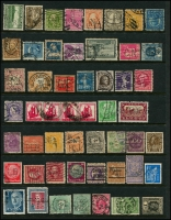 Lot 950 [2 of 5]:Perfins World selection with strength in GB, also noted Ceylon, Germany, India, Netherlands, USA, etc. No Australia. (260+)