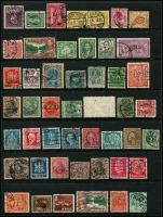Lot 950 [3 of 5]:Perfins World selection with strength in GB, also noted Ceylon, Germany, India, Netherlands, USA, etc. No Australia. (260+)