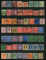 Lot 950 [4 of 5]:Perfins World selection with strength in GB, also noted Ceylon, Germany, India, Netherlands, USA, etc. No Australia. (260+)