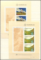 Lot 919 [2 of 8]:World incl Austria 1997 WIPA M/S, Finland 2001 Year pack, Israel 1969 Eshkol (3 sheetlets), Norway 1997 Postal Services Booklet, Portugal 1979 Nato (2 & M/S), Azores 1983 Europa M/S, Madeira 1981 & 83 Europa M/Ss, Switzerland 1960-76 Monuments several sheets with CTO tête-bêche pairs, USA, etc. (100s)