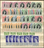 Lot 957 [2 of 6]:World incl Germany, Great Britain QV-QEII, few perfins, Hong Kong, India, Japan, Sierra Leone KGV-QEII selection, USA. Also 1953 Coronation oddments, etc. Mixed condition. Worth closer inspection. 6.3kg (100s)