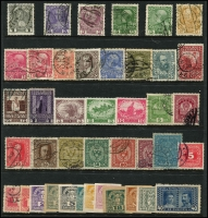 Lot 958 [2 of 6]:World on 57 Hagners with strength incl KGVI-QEII Aden, Antigua, Ascension, Bahamas, Barbados, Basutoland, Bermuda, Br Guiana, Br Honduras, Brunei selection (most without gum), plus Foreign incl Argentina, Belgium incl few Railways, Brazil, Bulgaria, Burma, etc. Mixed condition. 1.5kg (1,000s)
