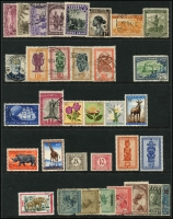 Lot 958 [3 of 6]:World on 57 Hagners with strength incl KGVI-QEII Aden, Antigua, Ascension, Bahamas, Barbados, Basutoland, Bermuda, Br Guiana, Br Honduras, Brunei selection (most without gum), plus Foreign incl Argentina, Belgium incl few Railways, Brazil, Bulgaria, Burma, etc. Mixed condition. 1.5kg (1,000s)