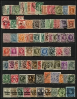 Lot 958 [4 of 6]:World on 57 Hagners with strength incl KGVI-QEII Aden, Antigua, Ascension, Bahamas, Barbados, Basutoland, Bermuda, Br Guiana, Br Honduras, Brunei selection (most without gum), plus Foreign incl Argentina, Belgium incl few Railways, Brazil, Bulgaria, Burma, etc. Mixed condition. 1.5kg (1,000s)